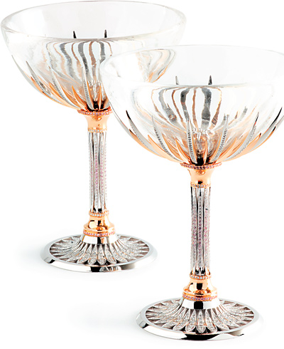 Calleija diamond Champagne glasses.